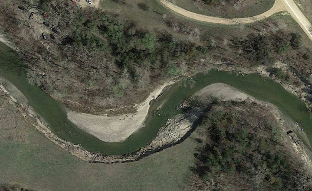 Eroded streambank materials are often deposited immediately downstream.